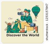 discover the world.travel... | Shutterstock .eps vector #1253157847