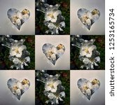 decorative background of heart. ... | Shutterstock . vector #1253165734