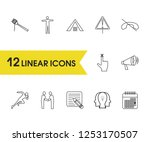 package icons set with meetup ...