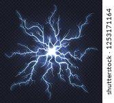 lightning thunder. flash... | Shutterstock .eps vector #1253171164