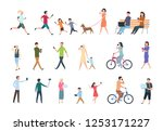 people with smartphones. many... | Shutterstock .eps vector #1253171227