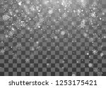 christmas snow. magic new year... | Shutterstock .eps vector #1253175421