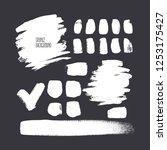 set of different square brush...   Shutterstock .eps vector #1253175427