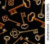 embroidery keys seamless...   Shutterstock .eps vector #1253178091