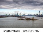 aerial view of jersey city and... | Shutterstock . vector #1253193787