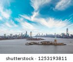 aerial view of jersey city and... | Shutterstock . vector #1253193811