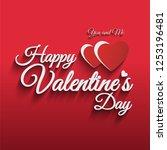happy valentines day vector... | Shutterstock .eps vector #1253196481