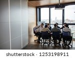 young caucasian sales manager... | Shutterstock . vector #1253198911