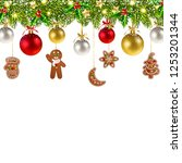 christmas banner with christmas ... | Shutterstock . vector #1253201344