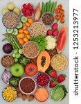 alkaline health food concept... | Shutterstock . vector #1253213977