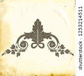 retro baroque decorations... | Shutterstock .eps vector #1253214511