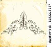 retro baroque decorations... | Shutterstock .eps vector #1253215387