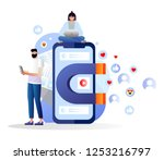 attracting online customers... | Shutterstock .eps vector #1253216797