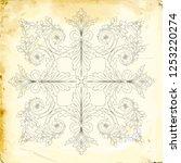 retro baroque decorations... | Shutterstock .eps vector #1253220274