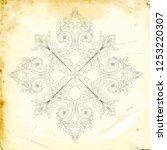 retro baroque decorations... | Shutterstock .eps vector #1253220307