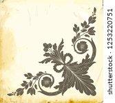 retro baroque decorations... | Shutterstock .eps vector #1253220751