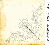 retro baroque decorations... | Shutterstock .eps vector #1253221387