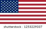 illustration of the flag of the ... | Shutterstock . vector #1253229337