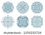 collection mandala on white... | Shutterstock .eps vector #1253232724