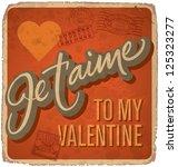 hand lettered vintage st.... | Shutterstock .eps vector #125323277