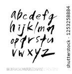 vector fonts   handwritten... | Shutterstock .eps vector #1253258884