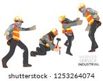 worker construction team... | Shutterstock .eps vector #1253264074