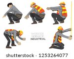 worker construction industry... | Shutterstock .eps vector #1253264077