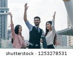 group of business success... | Shutterstock . vector #1253278531