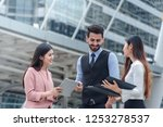 group of business discuss about ... | Shutterstock . vector #1253278537