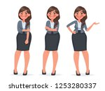 set of character a female... | Shutterstock .eps vector #1253280337