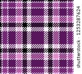 plaid or tartan vector eps10 | Shutterstock .eps vector #1253287624