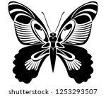 papilio rumanzovia butterfly... | Shutterstock .eps vector #1253293507