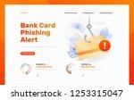 credit card phishing alert... | Shutterstock .eps vector #1253315047