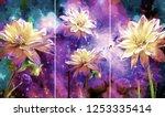 collection of designer oil... | Shutterstock . vector #1253335414