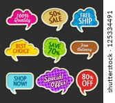 collection of sale discount... | Shutterstock .eps vector #125334491