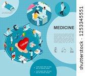 isometric medicine template...   Shutterstock .eps vector #1253345551