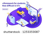 template design article banner  ... | Shutterstock .eps vector #1253353087