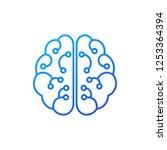 artificial intelligence vector... | Shutterstock .eps vector #1253364394