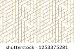 pattern with thin lines ... | Shutterstock .eps vector #1253375281