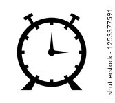 clock glyph black icon | Shutterstock .eps vector #1253377591