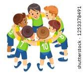 kids play sports. children...   Shutterstock .eps vector #1253378491