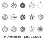 christmas ball outline icon    Shutterstock .eps vector #1253382301
