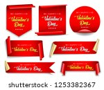 valentines day banners set.... | Shutterstock .eps vector #1253382367
