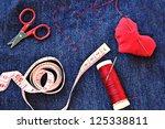 tailoring in love - stock photo