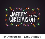 christmas balls and snowflakes... | Shutterstock .eps vector #1253398897