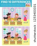 find differences  game for kids ... | Shutterstock .eps vector #1253403331