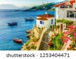 kokkari village panoramic view... | Shutterstock . vector #1253404471