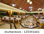 interior of the restaurant of... | Shutterstock . vector #125341661