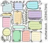 bullet journal hand drawn... | Shutterstock .eps vector #1253417641