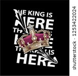 the king is here distorted... | Shutterstock .eps vector #1253422024